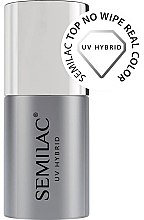 Parfémy, Parfumerie, kosmetika Vrchní Top Coat gel lak - Semilac Top No Wipe Real Color