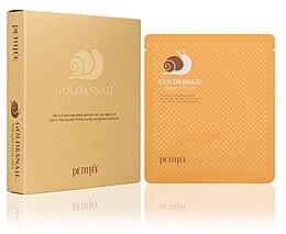 Parfémy, Parfumerie, kosmetika Hydrogelová obličejová maska se zlatem a šnekem - Petitfee & Koelf Gold & Snail Hydrogel Mask Pack