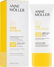 Parfémy, Parfumerie, kosmetika Opalovací BB krém na obličej - Anne Moller BB Age Sun Resist Perfecting Cream SPF50+