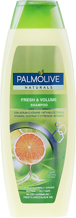 Šampon na vlasy - Palmolive Naturals Fresh & Volume Shampoo — foto N1