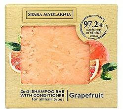 Parfémy, Parfumerie, kosmetika Tuhý šampon-kondicionér - Stara Mydlarnia Grapefruit 2in1 Shampoo Bar
