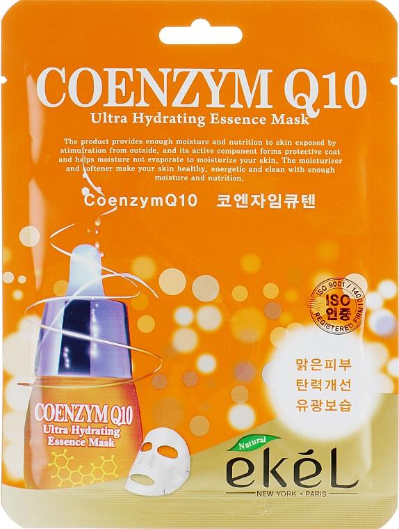 Pleťová látková maska s koenzymem Q10 - Ekel Coenzym Q10 Ultra Hydrating Essence Mask