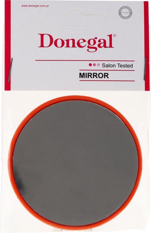 Kompaktní kulaté zrcadlo, 9511, 7 cm, oranžové - Donegal
