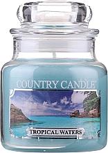 """Parfémy, Parfumerie, kosmetika Vonná svíčka """"Tropické vody"""" (sklenice) - Country Candle Tropical Waters"""