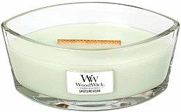 Parfémy, Parfumerie, kosmetika Vonná svíčka ve sklenici - WoodWick Hearthwick Flame Ellipse Candle Sweet Lime Gelato