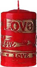 Parfémy, Parfumerie, kosmetika Dekorativní svíčka červená, 7x10cm - Artman Lovely