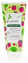 Parfémy, Parfumerie, kosmetika Dětský mycí gel na tělo a vlasy - Klorane Junior 2in1 Shower Gel Body & Hair Raspberry