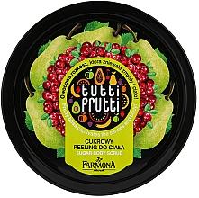"""Parfémy, Parfumerie, kosmetika Cukrový peeling na tělo """"Hruška a brusinka"""" - Farmona Tutti Frutti Sugar Scrub"""