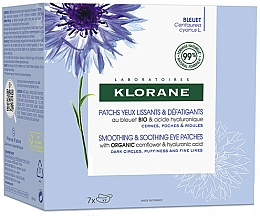 Parfémy, Parfumerie, kosmetika Vyhlazující a zklidňující náplasti pod oči - Klorane Smoothing & Soothing Eye Patches 7x2