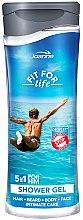 Parfémy, Parfumerie, kosmetika Sprchový gel a šampon 5 v 1 - Joanna Fit For Life 5in1 Shower Gel For All Body Odour Stoper For Men