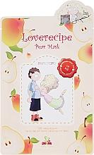 Parfémy, Parfumerie, kosmetika Bavlněná pleťová maska s extraktem z hrušky - Sally's Box Loverecipe Pear Mask