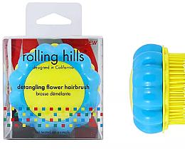 Parfémy, Parfumerie, kosmetika Kompaktní kartáč na vlasy Heřmánek, žlutý/modrý - Rolling Hills Brosse Desenredar Flower