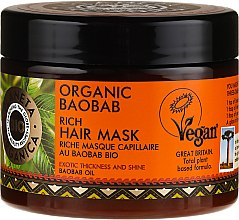 Parfémy, Parfumerie, kosmetika Posilující maska na vlasy - Planeta Organica Organic Baobab Rich Hair Mask