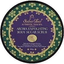 Parfémy, Parfumerie, kosmetika Peeling na tělo s olejem rýžových otrúb a aloe vera - Sabai Thai Rice Milk Aroma Exfoliating Body Sugar Scrub