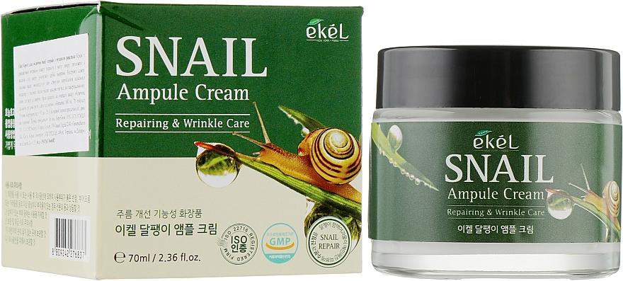 Ampulový pleťový krém s hlemýždím mucinem - Ekel Snail Ampule Cream