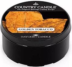Parfémy, Parfumerie, kosmetika Čajová svíčka - Country Candle Golden Tobacco
