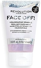Parfémy, Parfumerie, kosmetika Pleťová peeling-maska - Revolution Skincare Face Off! Holographic Sparkle Peel Off Face Mask