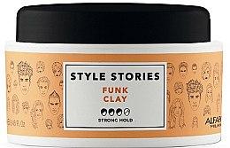 Parfémy, Parfumerie, kosmetika Pomáda pro úparvu vlasů se silnou fixací - Alfaparf Style Stories Funk Clay Strong Hold