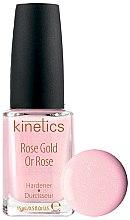 Parfémy, Parfumerie, kosmetika Zpevňující lak na nehty - Kinetics Rose Gold Hardener