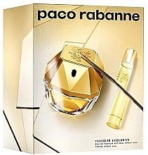Parfémy, Parfumerie, kosmetika Paco Rabanne Lady Million Traveler Exclusive - Sada (edp/80ml + edp/10ml)