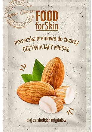 Plaťová maska - Marion Food for Skin Cream Mask Nourishing Almond