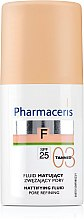 Parfémy, Parfumerie, kosmetika Matující tonální fluid - Pharmaceris F Mattifying Fluid Pore Refining SPF 25