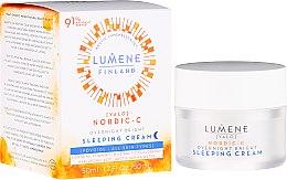 Parfémy, Parfumerie, kosmetika Noční regenerační krém-sen - Lumene Valo Overnight Bright Vitamin C Sleeping Cream