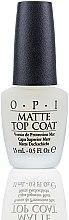 Parfémy, Parfumerie, kosmetika Vrchní lak pro vytvoření matného efektu - O.P.I Matte Top Coat
