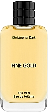Parfémy, Parfumerie, kosmetika Christopher Dark Fine Gold - Toaletní voda