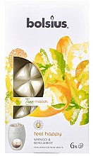 "Parfémy, Parfumerie, kosmetika Vonný vosk ""Mango a Bergamot"" - Bolsius True Moods Feel Happy Mango & Bergamot"