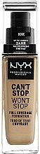 Parfémy, Parfumerie, kosmetika Make-up - NYX Professional Makeup Can't Stop Won't Stop Full Coverage Foundation