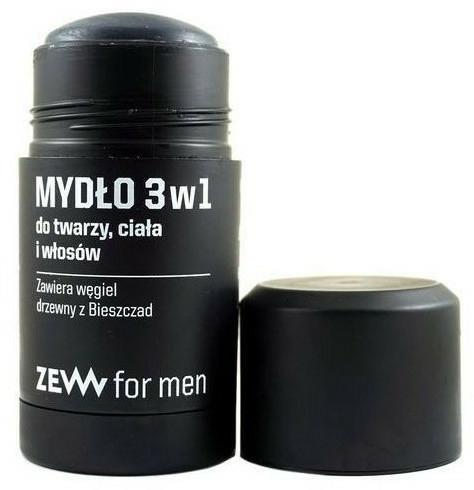 Přírodní tuhé mýdlo 3v1 - Zew For Men 3 in 1 Soap For Face Body And Hair — foto N2