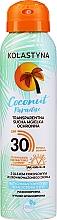 Parfémy, Parfumerie, kosmetika Průhledný suchý ochranný sprej na obličej a tělo - Kolastyna Coconut Paradise SPF30