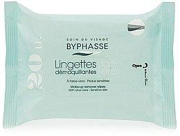 Parfémy, Parfumerie, kosmetika Odličovací ubrousky, 20 ks - Byphasse Aloe Vera Make-up Remover Wipes Sensitive Skin