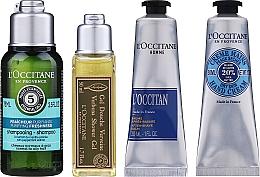Parfémy, Parfumerie, kosmetika Sada  - L'Occitane Men Selection (sh/gel/50ml + ash/balm/30ml + /cr/30ml + shmp/75ml + bag)