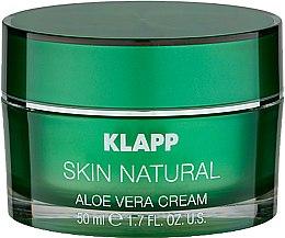 Parfémy, Parfumerie, kosmetika Hydratační krém na obličej - Klapp Skin Natural Aloe Vera Cream