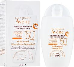 Parfémy, Parfumerie, kosmetika Opalovací fluid s minerální obrazovkou - Avene Eau Thermale Mineral Fluid SPF 50+