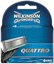 Parfémy, Parfumerie, kosmetika Náhradní hlavice k holicímu strojku, 4 ks - Wilkinson Sword Quattro Cartridge Razor Blades