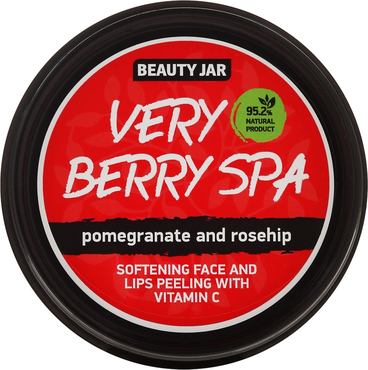 "Peeling na obličej a rty ""Very Berry Spa"" - Beauty Jar Softening Face And Lips Peeling With Vitamin C"