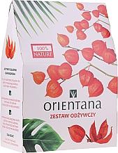 Parfémy, Parfumerie, kosmetika Sada - Orientana Papaya (f/cr/40ml + f/peeling/50ml + eye/mask/1pad)