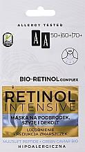Parfémy, Parfumerie, kosmetika Omlazující maska na bradu, krk a dekolt - AA Retinol Intensive Bio-Retinol Complex 50+ 60+ 70+ Mask