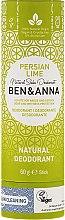 Parfémy, Parfumerie, kosmetika Tuhý přírodní deodorant na bázi jedlé sody Persian Lime (karton) - Ben & Anna Natural Soda Deodorant Paper Tube Persian Lime
