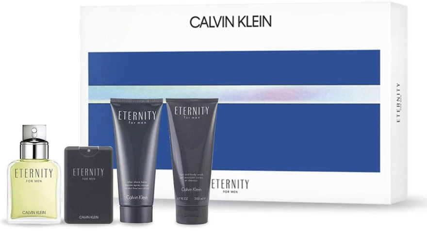 Calvin Klein Eternity For Men - Sada (edt/100ml + ash/b/100ml + edt/20ml + sh/gel/100ml) — foto N1