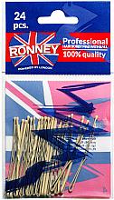Parfémy, Parfumerie, kosmetika Neviditelné zvlněné vlásenky, krémové 60 mm, 24 ks. - Ronney Cream Hair Bobby Pins