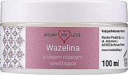 Parfémy, Parfumerie, kosmetika Vazelína s růžovým olejem na obličej a tělo - Argan My Love