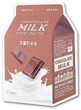 """Parfémy, Parfumerie, kosmetika Bavlněná maska """"Čokoláda"""" - A'pieu Chocolate Milk One-Pack Soothing"""