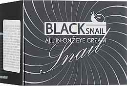 Parfémy, Parfumerie, kosmetika Oční krém s mucinem černého hlemýždě - FarmStay All-In-One Black Snail Eye Cream