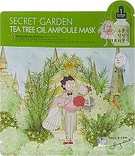 Parfémy, Parfumerie, kosmetika Dvoufázová maska na obličej s čajovníkem - Sally's Box Secret Garden Tea Tree Oil Ampoule Mask