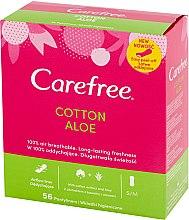 Parfémy, Parfumerie, kosmetika Hygienické denní vložky s extraktem z aloe, 56ks - Carefree Cotton Aloe