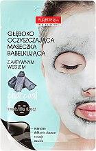 Parfémy, Parfumerie, kosmetika Hluboce čistící kyslíková obličejová maska - Purederm Deep Purifying Black O2 Bubble Mask Charcoal